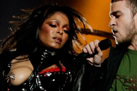 File photo of Janet Jackson during Super Bowl halftime performance with Justin Timberlake.