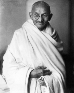 A2FP81 Rare studio photograph of Mahatma Gandhi taken in London England UK at the request of Lord Irwin 1931